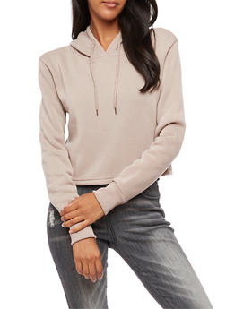 Cropped Hooded Sweatshirt - 3402072297007