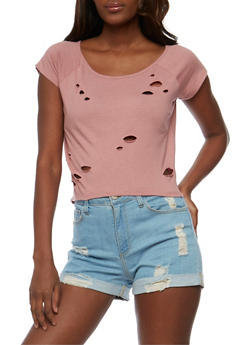 Lasercut Crop Top - 3402073135016