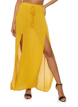 Gauze Knit Maxi Skirt - 3406061350207
