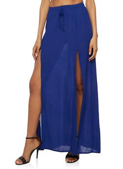 Gauze Knit Maxi Skirt - 3406061350207