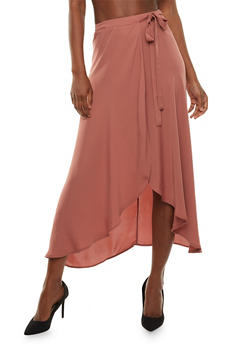 Wrap Front Maxi Skirt - 3406062709880