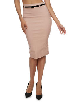 Pencil Skirt with Belt - 3406062709947