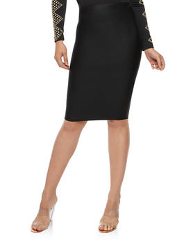 Solid Bandage Pencil Skirt - 3406068197072