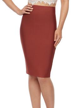 Solid Bandage Pencil Skirt - 3406068197072