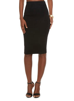 High-Waisted Pencil Skirt - 3406069391009