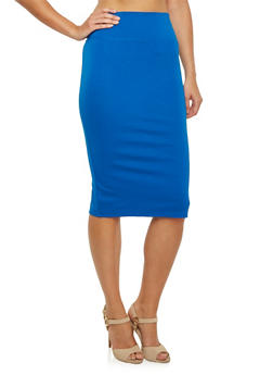 Stretch Midi Skirt in Bodycon Fit - 3406069391010