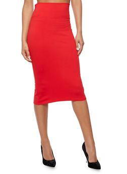 Wide Waist Pencil Skirt - 3406069391011