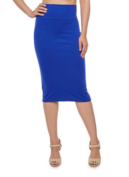 Wide Waist Pencil Skirt - 3406069391011