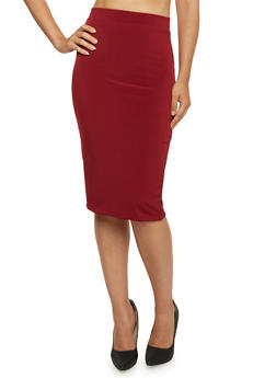 Bodycon Midi Skirt - 3406069391021