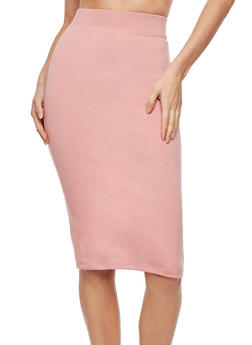 Basic Midi Pencil Skirt - CAMEO ROSE - 3406069392009