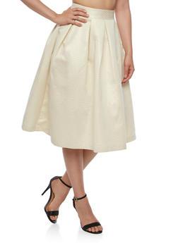 Lurex Pleated Skater Skirt - 3406069394031