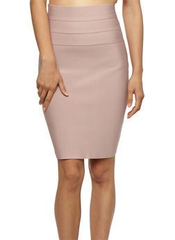 Bandage High Waist Pencil Skirt with Zipper Back - 3406069394070