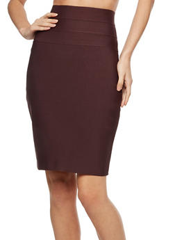 Bandage High Waist Pencil Skirt with Zipper Back - 3406069394070