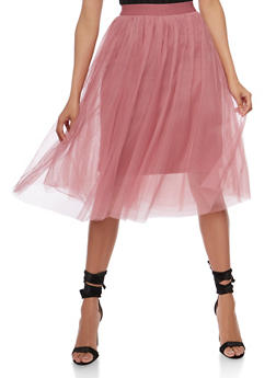 Solid Tulle Skirt - 3406069394141