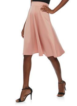 Solid Blush Skater Skirt - 3406072244162