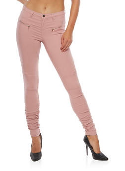 Ruched Moto Jeans - 3407056574105