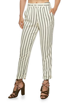 Striped Linen Pants - 3407056574406