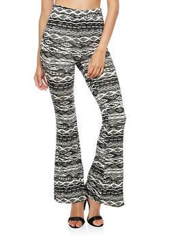 Printed Flared Leggings - 3407061351083