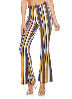 Striped Flared Leggings - 3407061352509