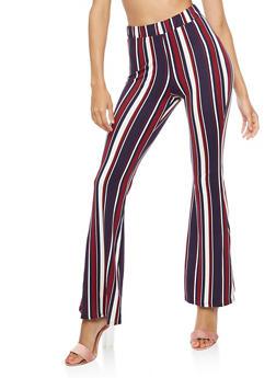 Striped Flared Leggings - 3407061352509
