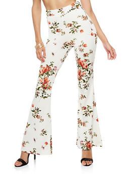 Floral Flared Leggings - 3407061353434