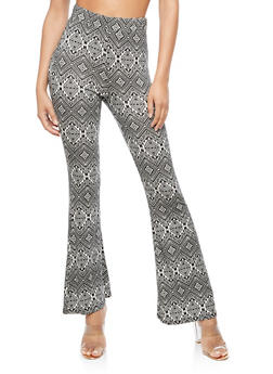 Printed Flared Leggings - 3407061356250