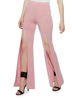 Wide Split Hem Pants - 3407072244121