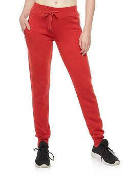 Fleece Zip Pocket Sweatpants - 3407072291321