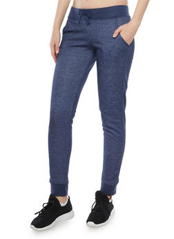 Heathered Joggers with Fleece Lining - 3407073136126