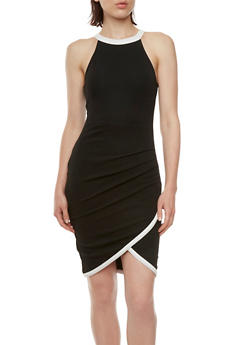 Almost Famous Bodycon Dress with Contrast Trim - 3410015994561