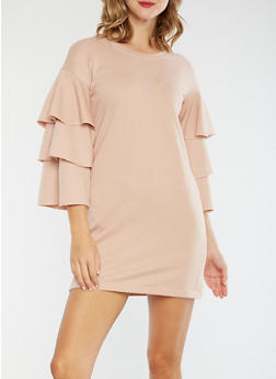 Tiered Sleeve Sweater Dress - 3410015997140