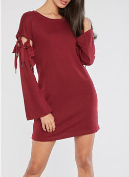 Detachable Tie Sleeve Dress - 3410015997141