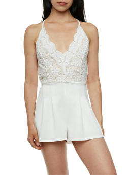 Romper with Padded Bustier Paneling - 3410035044404