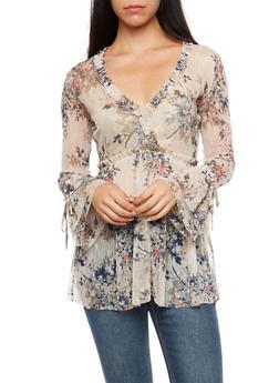 Floral Lace Peasant Top - 3410054213206
