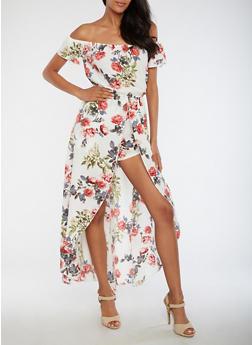 Crepe Knit Floral Romper - 3410054265113