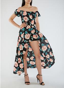 Crepe Knit Floral Romper - 3410054265115