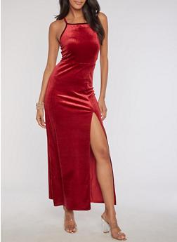 Velvet Maxi Dress - 3410061357271