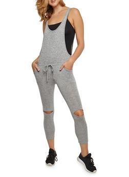 Sleeveless Jumpsuit with Slit Knees - 3410062702801