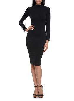 Bodycon Dress with Long Sleeves - 3410062705627