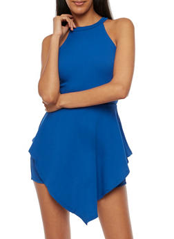 Double Layer Solid Romper - 3410062706462