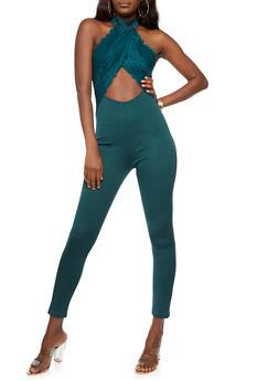 Open Back Lace Jumpsuit - 3410062706500
