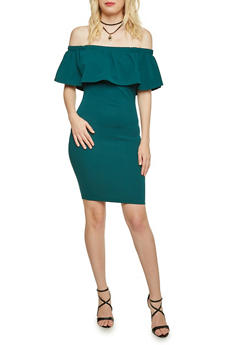 Off the Shoulder Dress with Necklace - 3410065623048
