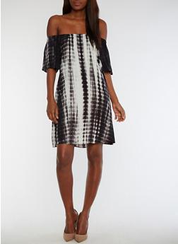Off the Shoulder Tie Dye Dress - 3410066491935