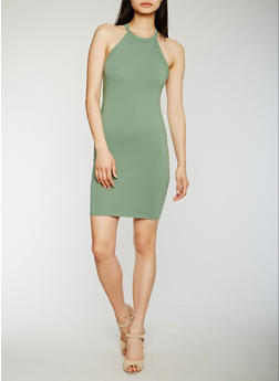 Sleeveless Racerback Mini Dress - 3410066491979