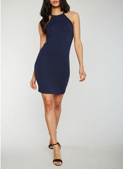 Sleeveless Racerback Mini Dress - 3410066491979