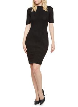 Rib Knit Bodycon Dress - 3410066495257