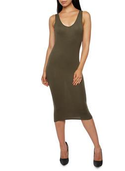 Solid Jersey Tank Dress - 3410066495777