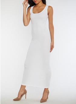Rib Knit Maxi Tank Dress - 3410066495931