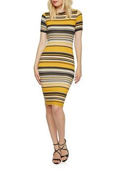 Midi T-Shirt Dress in Stripes - 3410068510237