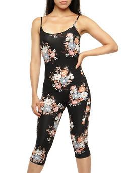 Floral Capri Catsuit - 3410068511539